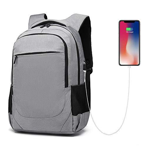 Business Laptop Backpack Bag, 15.6 inch Computer Bag Water Resistant Travel Backpack with USB Charging Port for Men Women Slim Casual Daypack School Rucksack for College, Urban Grey