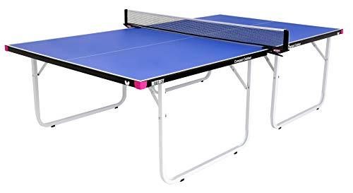 Butterfly Compact 10 Wheelaway Indoor and Outdoor Table Tennis Table, Blue