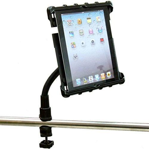 Buybits Heavy Duty C-Clamp Cross Trainer Treadmill Gym Tablet Holder for iPad & iPad MINI (all)