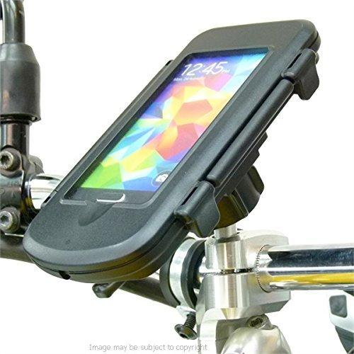 Buybits Motorcycle M8 Handlebar Top Clamp Mount & Waterproof Case for Galaxy S5 Mini (sku 21223)