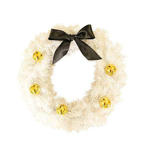 C D Creative Luxury Artificial Christmas Double-sided White Garland And Garland Pvc Garland Door Wall Christmas Decoration Craft Flower Outdoor/Indoor 60cm