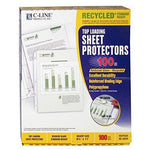 C-Line Recycled Standard Weight Polypropylene Top Loading Sheet Protectors, 8.5 x 11 Inches, Reduced Glare, 100 per Box (62029) by C-Line