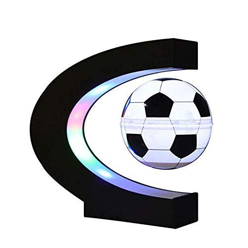 C Shape Magnetic Levitation Floating Football with LED Light for Educational Christmas Kids Gift Home Office Desk Decoration
