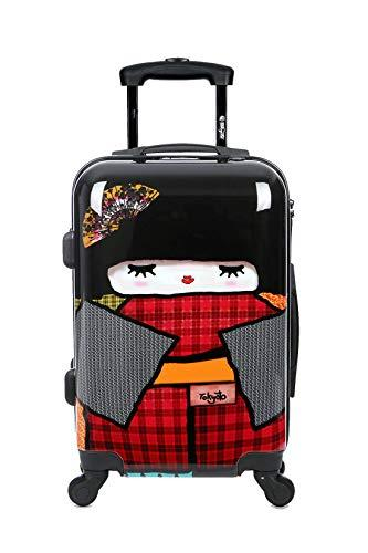 67139bf8aaf0 Cabin Luggage 55x35x20 Suitcase 20 inch in Ryanair Easyjet Approved  Lightweight 4 Wheel Hard Case Kids