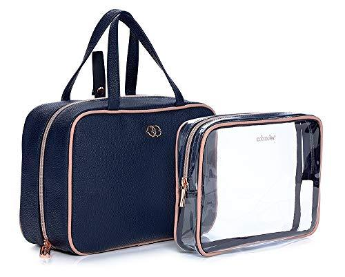 Caboodles Life & Style Hanging Travel Tote, Multi Pocket Toiletry Bag with Removable Clear Toiletry Pouch Hanging Travel Tote