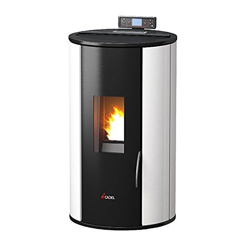 Cadel Rondo Electric, Pella or Pellet Stove Black, White – (Black, White, Electric, Pella or Pellet, 132 M³, 1.24 kg/h, 60 W, 460 mm