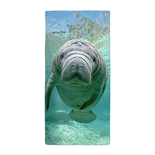 "CafePress - Baby Manatee In The Spring - Large Beach Towel, Soft 30""x60"" Towel with Unique Design"