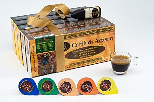 Caffè di Artisan Coffee Pods, 50 All Major Variants Flavoured Coffee Capsules. Without Nespresso or Keurig Coffee Machine, 100% Recyclable Luxury Coffee Pods. Free Frother
