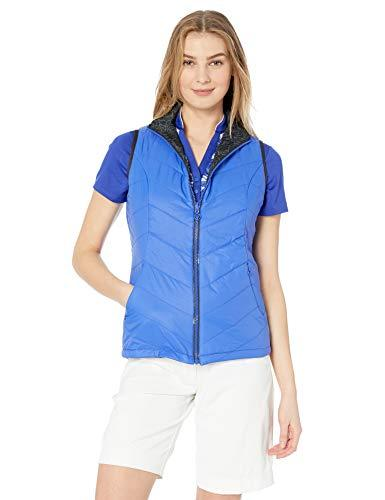 Callaway Women's Thermal Quilted Reversible Golf Vest Sleeveless, Dazzling Blue, Large