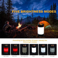 Camping Lantern - Ultra Bright LED Lantern - Rechargeable Outdoor Tent Light - Water Resistant - Suitable for: Camping, Emergencies, Hurricanes, Hiking, Outages - with Carabiner