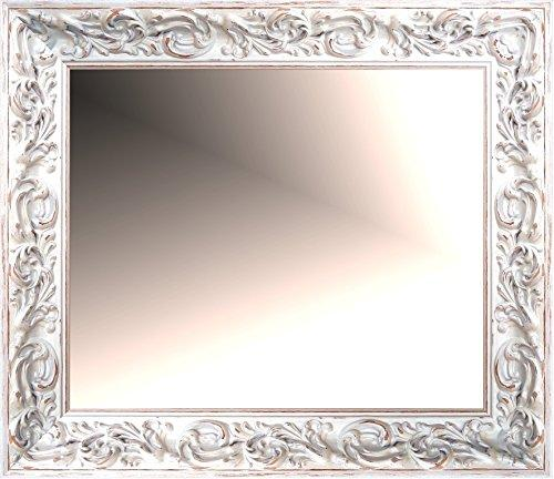 Canvases Levante da2090 – 12 Wall Mirror for Dressing Room, Headboard or Sideboard, 163 x 63 cm, White Rozado
