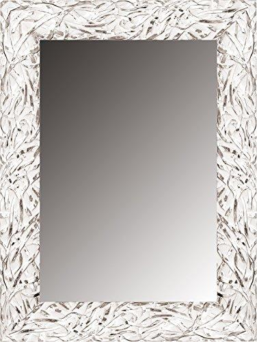Canvases Levante da2419 – 12 Decorative Mirror – Dressing Room/Headboard/Sideboard, 168 x 68 cm, White and Silver