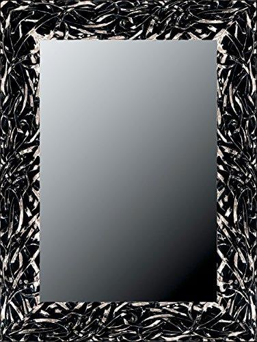 Canvases Levante da2420 – 12 Decorative Mirror – Dressing Room/Headboard/Sideboard, 168 x 68 cm, Black and Silver