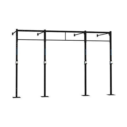 Capital Sports Dominate W 407.1700 Wall Mount Rack (4 x Pull-Up Station 2 x Squat, 4 x 270 cm, 4 x 170 cm Wall Mount Bars, 1 x 168 cm Double Bar, 2 x 108 cm Double Bars) Black