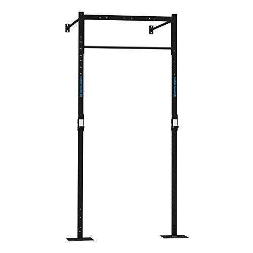 Capital Sports Dominate W Base 120.170 Wall Mount Rack (1 x Pull-Up Station 1 x Squat, 2 x 270 cm Upright Bars, 2 x 170 cm Wall Mount Bars, 1 x 108 cm Double Bar) Black