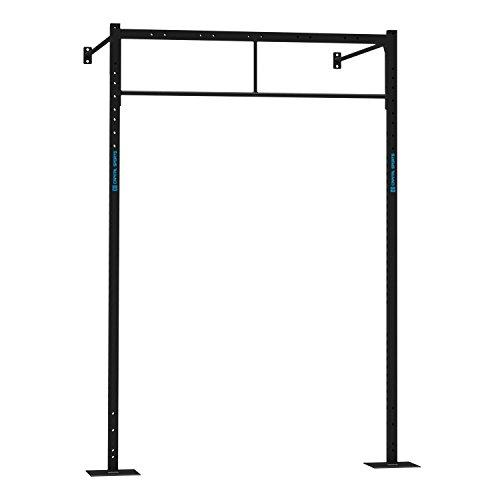 Capital Sports Dominate W Base 179.170 Set Wall Mount Rack (2 x Pull-Up Station, 2 x 270 cm Upright Bars, 2 x 170 cm Wall Mount Bars, 1 x 168 cm Double Bar) Black