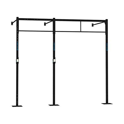 Capital Sports Dominate W Base 293.150 Wall Mount Rack (3 x Pull-Up Station 1 x Squat, 3 x 270 cm Upright Bars, 3 x 150 cm Wall Mount Bars, 1 x 168 cm Double Bar, 1 x 108 cm Double Bar) Black