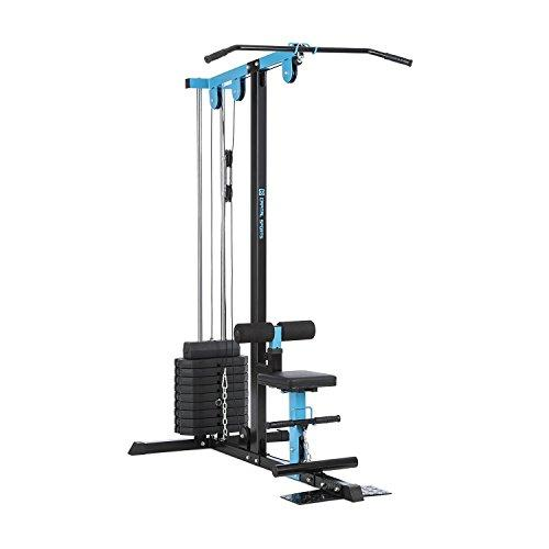Capital Sports LZ 550 Cable Training Machine • Home Gym • Exercise Machine • 2 Cables • 45 kg Weight Plates • Multifunctional • Numerous Exercise Options • Steel • Blue