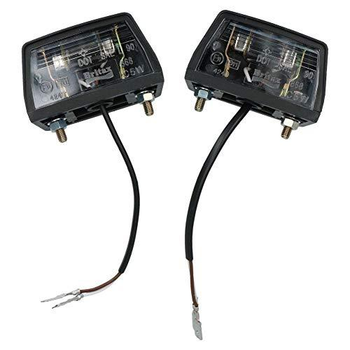 Capricornleo Number Plate Illumination Light/Lamp for Trailers Caravans Vans 2 Pack
