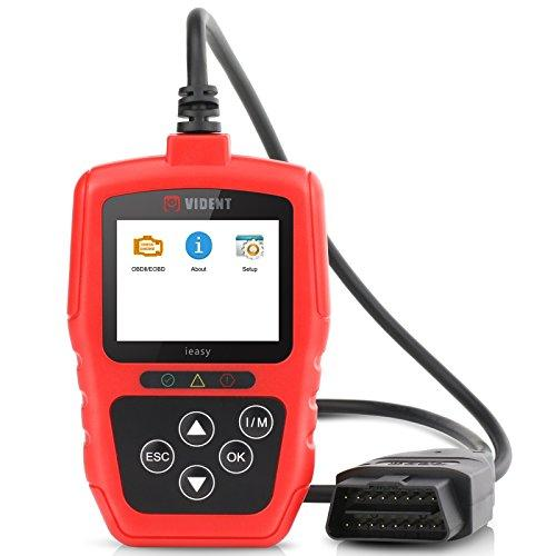 Car OBD2 EOBD Code Reader, VIDENT Automative OBDII Diagnostic Scanner Tool Car Engine Fault Code Reader with LED Display, Read & Clear Trouble Codes for 12V Petrol & Diesel Hybird EU US Vehicles