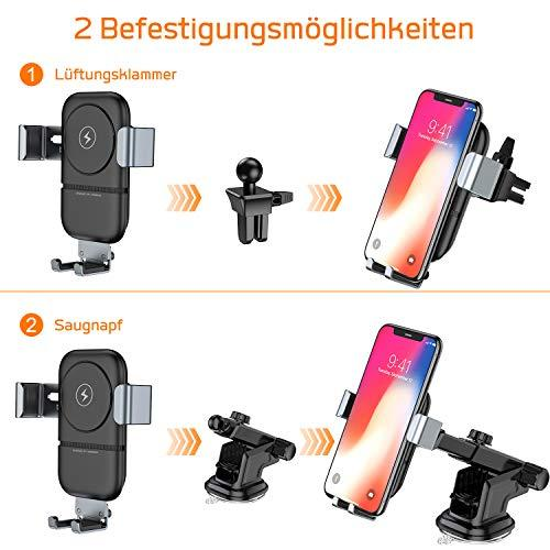 Car Phone Mount Vanmass Car Vent Mount with Qi Wireless Charger, Gravity  Sensor, Compatible with iPhone Xs/8/7/7 Plus, Samsung S9 / S8 / S7  Edge/Note