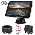 Car Reversing Camera Rearview Backup Camera IP68 Waterproof Night Vision Kit 7 inch TFT LCD Rear View Reverse Monitor Parking Assistance System Super Easy Installation
