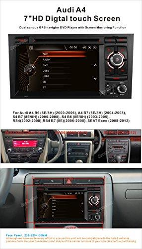 Car Stereo For Audi A4 S4 Rs4 In Dash Double Din Video Audio Gps