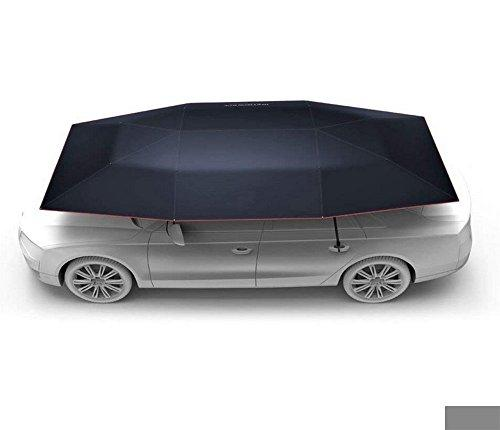 Car Tent Automatic Folded Remote Control Portable Auto Protection Umbrella Shelter Car Hood,Black