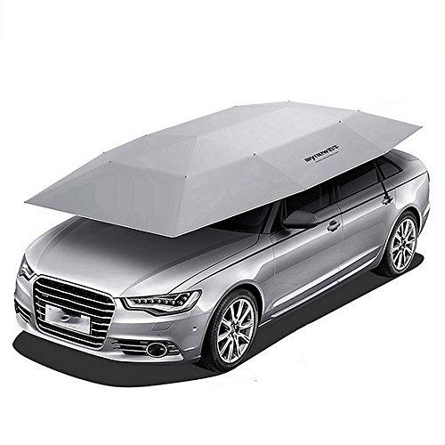 Car Tent Movable Carport Folded Portable Automobile Protection Umbrella Sunproof Car Canopy Cover (210