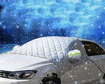 Car Windscreen Cover, Windshield Frost Cover Ice Protection Foils for Winter, Super Thick Extra Large Snow Cover with Wing Mirror Cover and Reflective Stripes Fits Most Vehicles