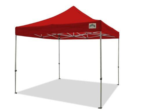 Caravan Canopy 10 X 10 Foot Aluma Basic Straight Leg Canopy Kit, Red