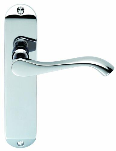 CARLISLE BRASS DL181CP Polished Chrome Andros Lever Latch Handle Short Backplate