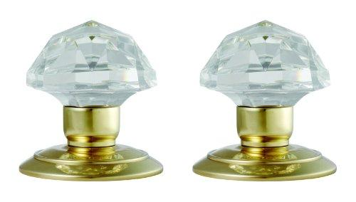 Carlisle Brass Quality 60mm Glass Mortice Door Knob Polished Brass