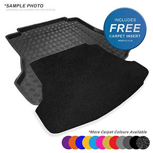 carmats4u To fit Passat B6 Estate 2005-2010 Fully Tailored PVC Boot Liner/Mat/Tray + Black Carpet Insert