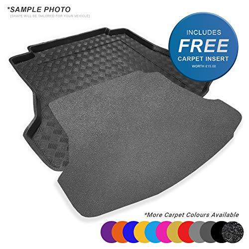 carmats4u To fit Yeti 2009+ Fully Tailored PVC Boot Liner/Mat/Tray + Grey Carpet Insert