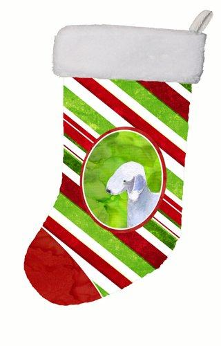 Caroline's Treasures SS4552-CS Bedlington Terrier Winter Snowflakes Christmas Stocking, 11 x 18, Multicolor