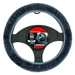 Carpoint 2510030 Steering Wheel Cover Anthracite Sheepskin