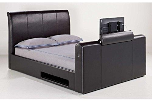 Carran Furniture Lloyd Phillip & Delric Manchester Electric Lift Tv Bed Brown Superking