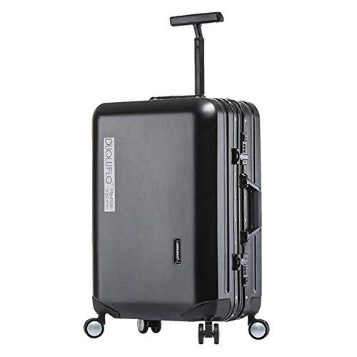 Carry On Universal Wheel Luggage Suitcase Password Lock,Black-20""