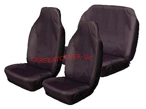 Carseatcover-UK BLKWPFS349 Car Seat Covers, Heavy Duty, Waterproof, Full Set, Black