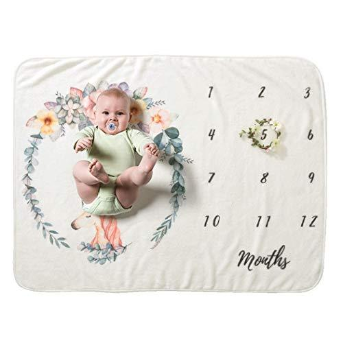 Carsge Baby Cartoon Printed Photography Backdrop Soft Baby Milestone Blanket Accessories 70 x 102cm/27.6 x 40.2inch