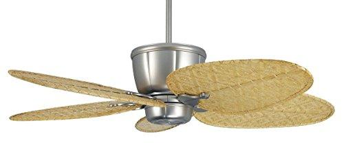 CASA BRUNO ceiling fan Sandella 'Ocean Breeze', satin nickel