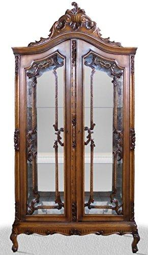 Casa-Padrino baroque display cabinet 100 x 40 x H. 200 cm - Baroque Living Room Cabinet