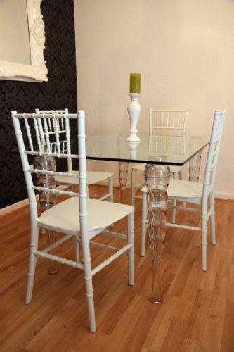 Casa-Padrino Designer acrylic dining room set - Ghost Chair Table - polycarbonate furniture - a table and 4 chairs - White House Padrino designer furniture - designer furniture