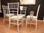 Casa-Padrino Designer acrylic dining room set white/cream - Ghost Chair Table - polycarbonate furniture - a table and 4 chairs