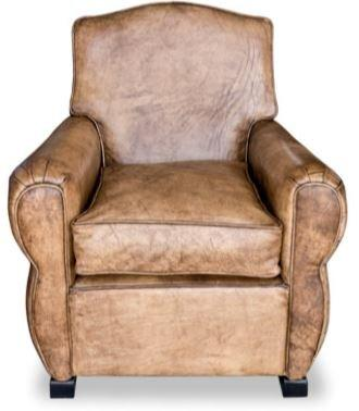 Casa-Padrino Genuine Leather Armchair Buffalo Leather/Antique Brown - Club Armchair - Lounge Chair - Vintage