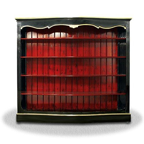 Casa-Padrino living room cabinet black red gold - Baroque Cabinet