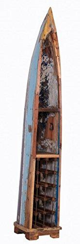 Casa-Padrino vintage wine rack cabinet boat - 100% recycled waste wood