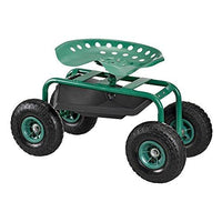 casapro rolling wheeled garden cart garden work seat with tool tray - Garden Cart With Seat