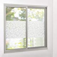 [casa.pro] Static self-adhesive sight-proof window film frosted leaves motif 1mx10m